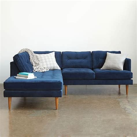 right arm sofa left arm chaise peggy mid century set 2 left arm terminal chaise right