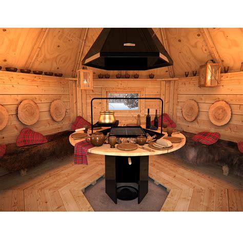 bbq house wooden bbq hut grill house grillkota barbecue winter summer garden log cabin ebay