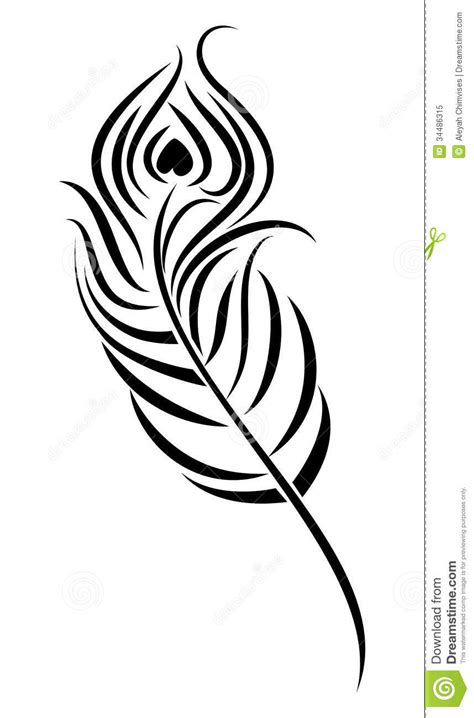 Peacock Feather Royalty Free Stock Photo Image 34486315 Images And Silhouettes Pinterest Feather Flag Template Vector