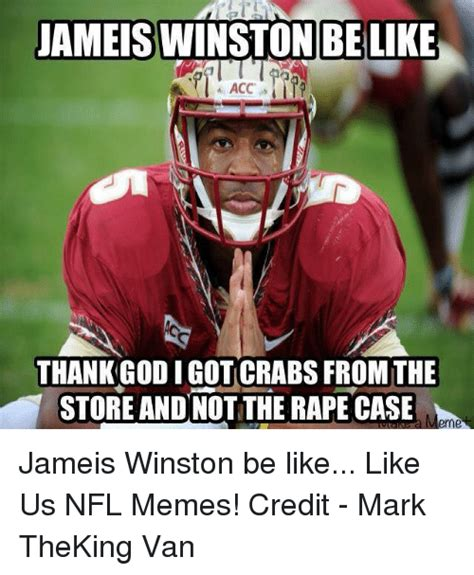 Jameis Winston Memes - jameis belike acc thank godigotcrabs from the store andnot