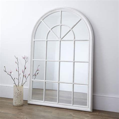 white arched window mirror by primrose plum notonthehighstreet com