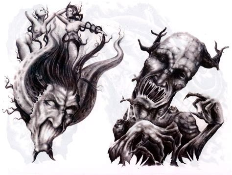 demonic tattoo designs wonderful evil designs tattooshunt