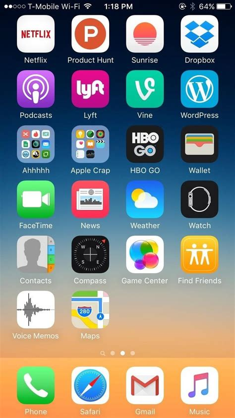 best 25 iphone home screen layout ideas on