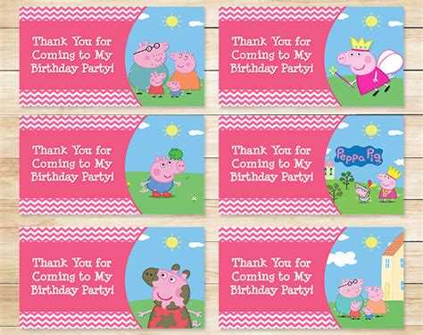 goodie bag tag template printable peppa pig birthday goody bag tags by