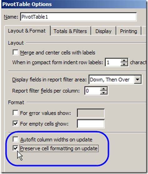 format pivot table excel 2007 keep formatting in excel 2007 pivot table excel pivot