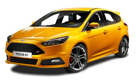 ford car png ford focus st yellow car png image pngpix
