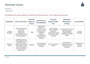 Stakeholder Analysis Template by Stakeholder Analysis Template Www Imgkid The Image