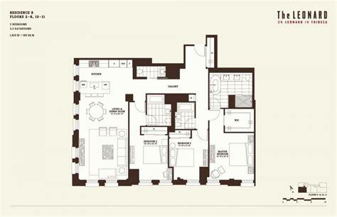 3 bedroom condo floor plans the leonard 101 leonard street tribeca condos for sale