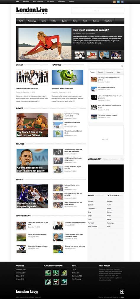 wp themes london i migliori 30 temi wordpress di agosto 2011 by themeforest