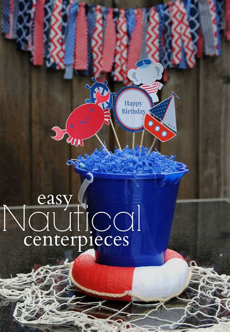nautical themed centerpiece ideas turns one in a nautical way