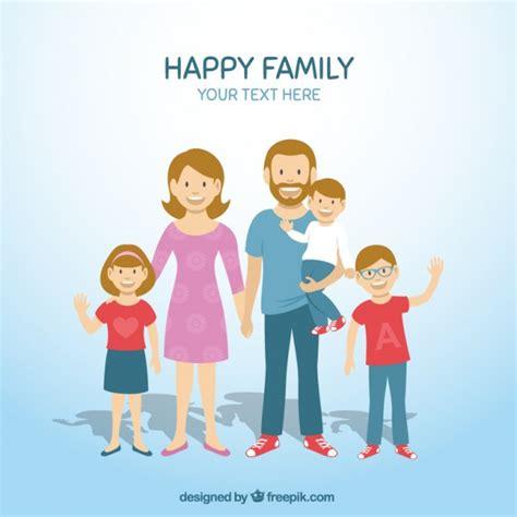 imagenes animadas de una familia feliz la familia feliz descargar vectores gratis