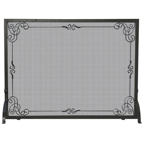 Wrought Iron Fireplace Screens Decorative by Uniflame Black Wrought Iron Single Panel Fireplace Screen