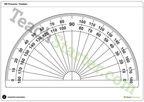 180 and 360 degree protractor templates teaching resource