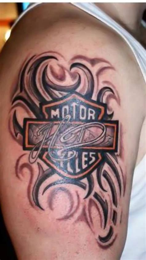 tribal motorcycle tattoo tribal harley davidson shared by our fan hommie v