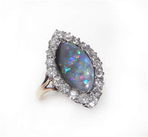antique engagement ring opal and engagement by