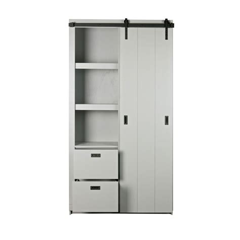 Armoire Design by Armoire Design Bois Porte Coulissante Barn By Drawer