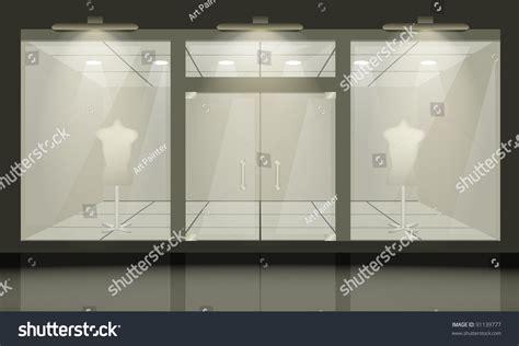 Window And Door Store by Shop Glass Windows Doors Front View Stock Vector 91139777