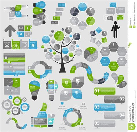 infographic templates for business vector illustration collection of infographic templates for business stock