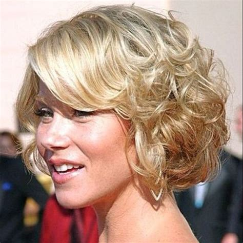 pin curls on a bob side swept bangs with curls curly bob with side swept