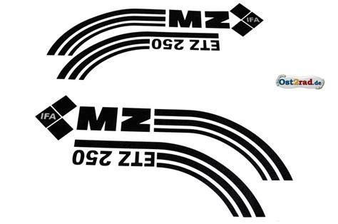Mz Tank Aufkleber by Aufkleber Satz Tank Seitendeckel Mz Etz 250 Schwarz