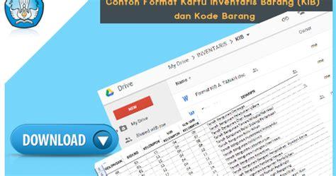 format kartu absensi contoh format kartu inventaris barang kib dan kode