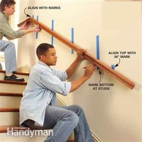 How To Install Handrail Brackets install a new stair handrail the family handyman house and the family