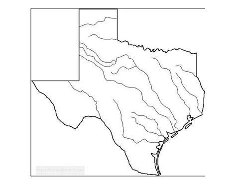 texas map blank blank texas map with rivers