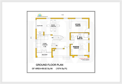 ground floor plan for home 2172 sq feet villa 3d view and floor plan kerala house
