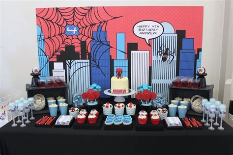 Fall Themed Baby Shower Invitations by Kara S Party Ideas Dessert Table From A Spiderman Birthday