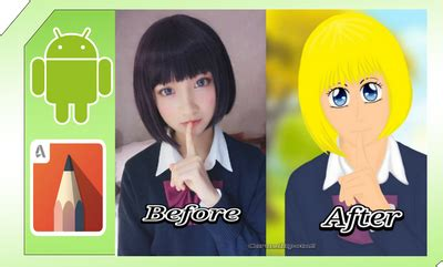 cara edit foto yang ada tulisannya cara edit foto jadi anime jepang mudah banget sketchbook