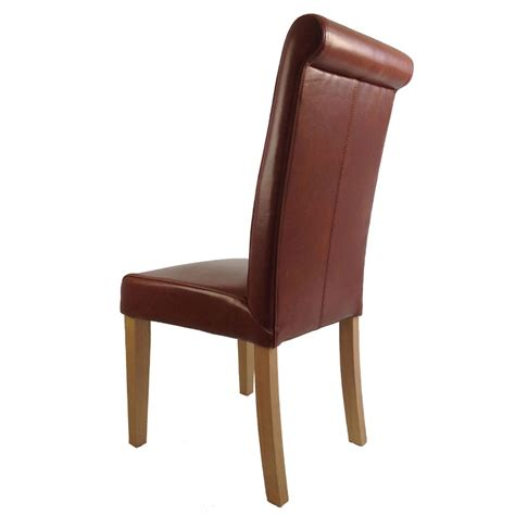 Leather Chair Dining Alder Brown Leather Dining Chair