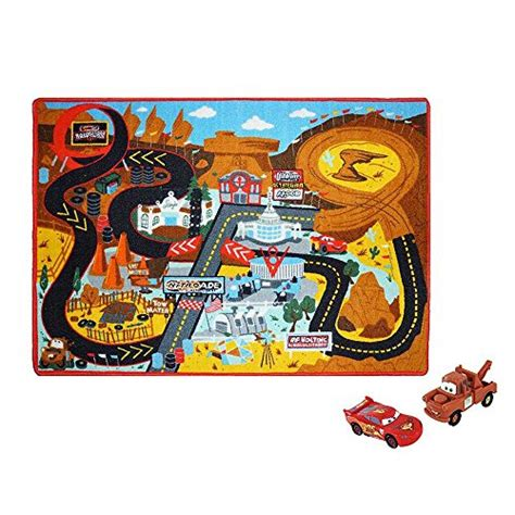 Disney Pixar Cars Rug - disney pixar cars rug nitroade includes 2 cars