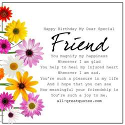 special friends birthday wishes greetings and happy birthday on
