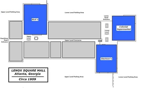 lenox mall map malls of america vintage photos of lost shopping malls of the 50s 60s 70s