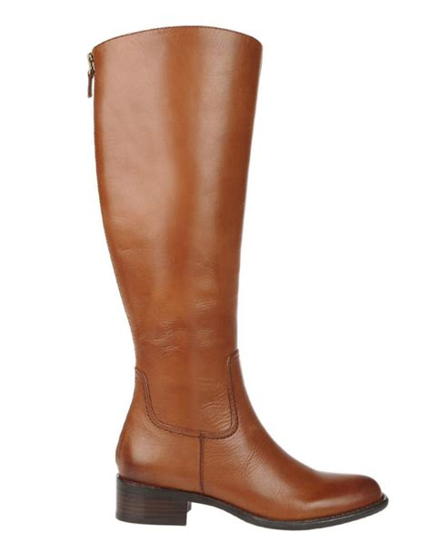 cognac leather boots franco sarto crane leather boots in brown cognac