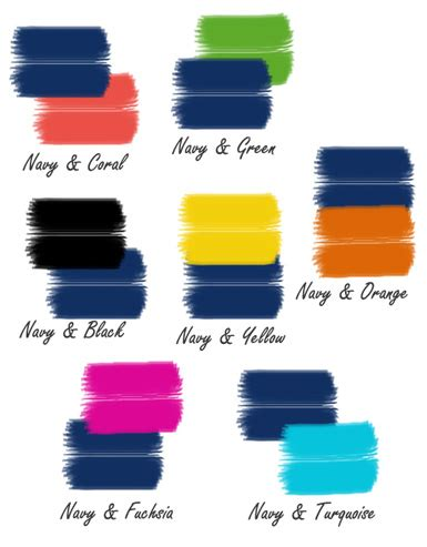 colors that match with blue maison color trend navy blue