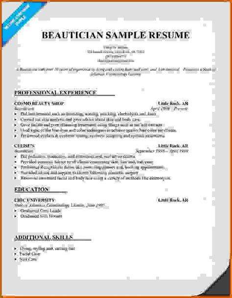 how to make a resume for a salon free resume templates