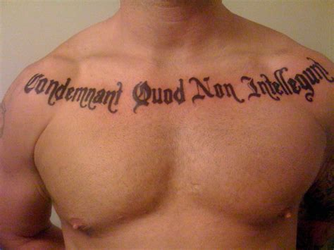 tough tattoos tough chest quotes quotesgram