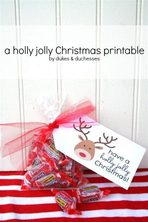 holly jolly christmas printable tags gift tag and gift wrap ideas you can do yourself