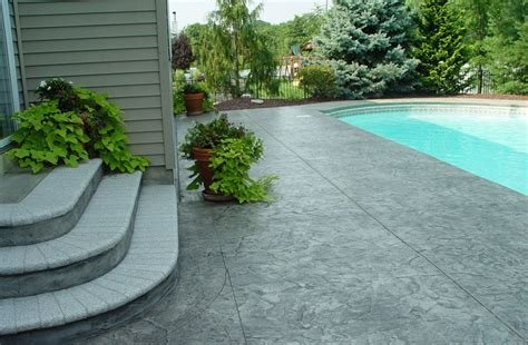 concrete ideas for backyard sted concrete patio stairs ideas and around small pool