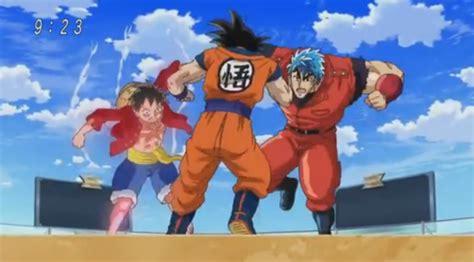 goku and luffy vs toriko one piece 590 legendado animes xd