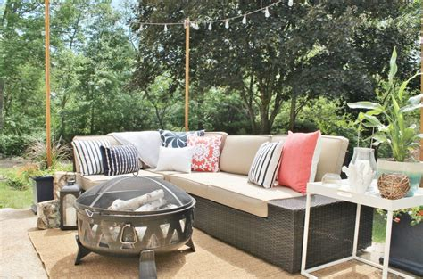 lowes outdoor sectional lowe s spring makeover outdoor oasis city farmhouse