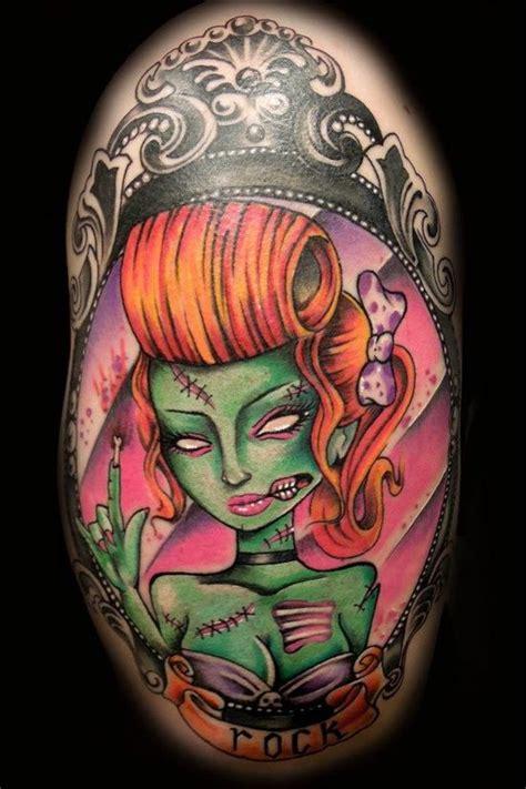 tattoo girl zombie zombie pin up tattoo cute zombie tattoos pinterest
