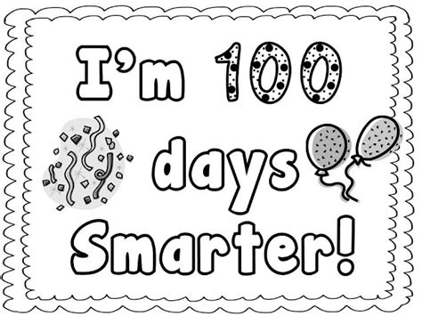 100 days coloring sheet new calendar template site