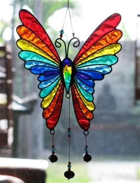 Stained Glass Butterfly L by Stained Glass Butterfly Dyi Crafts Stained Glass