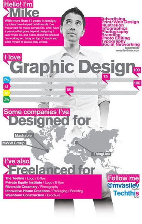 Resume About Me Creative 40 Creative Cv Resume Designs Inspiration 2014 Web Graphic Design Bashooka