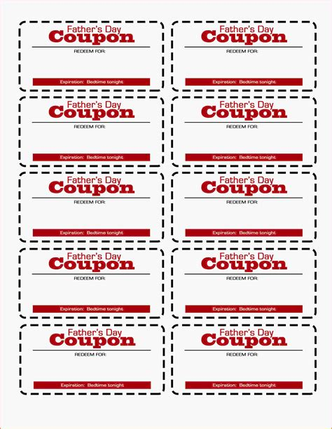 coupon templates 11 free coupon template letter template word