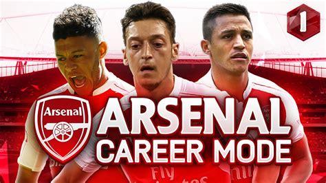 arsenal career fifa 17 arsenal career mode season 1 episode 1 youtube