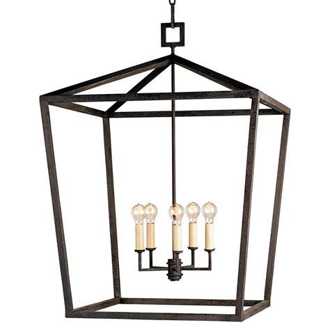 lantern pendant light black darden 4 light industrial chic open lantern pendant 26 inch