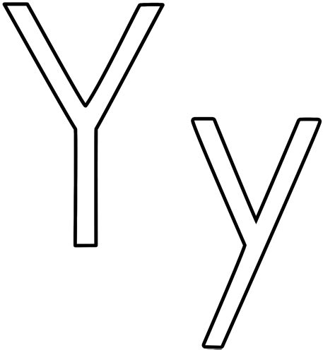 Awesome Letter Y Coloring Pages Design | Printable ... Y Coloring Pages